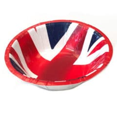 Union Jack Round Paper Bowls 18cm - Pack of 10