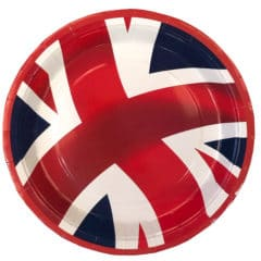 Union Jack Round Paper Plates 23cm - Pack of 10