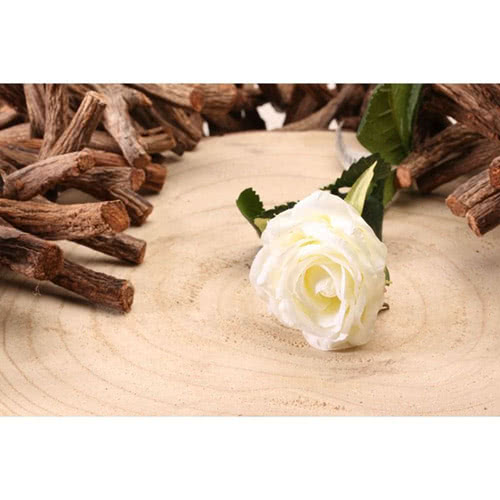 White Diamond Rose Artificial Silk Flower 40cm Product Gallery Image