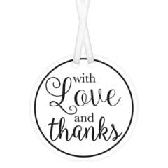 White With Love & Thanks Tags with Twist Ties - Pack of 25