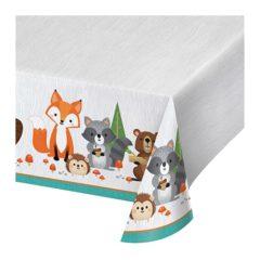 Woodland Animals Plastic Tablecover 259cm x 137cm