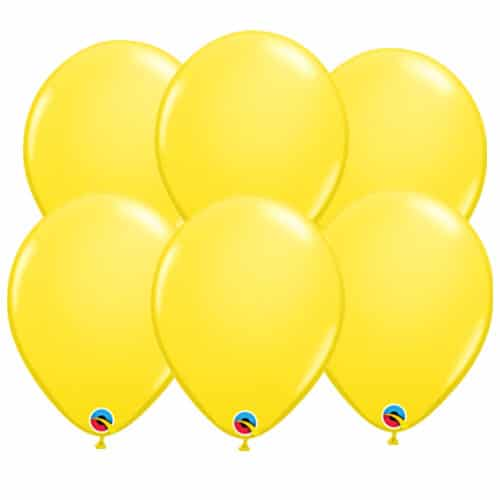 Yellow Round Latex Qualatex Balloons 28cm / 11 in - Pack of 10