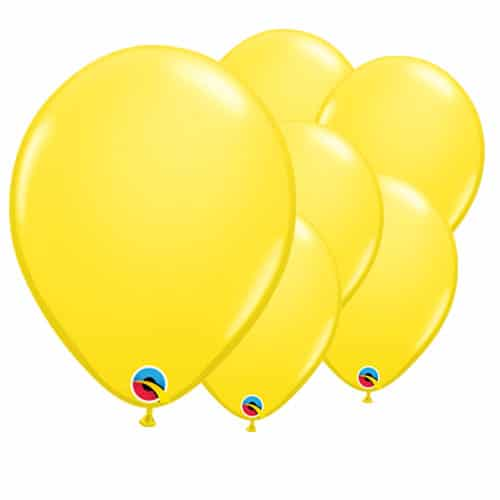 Yellow Round Latex Qualatex Balloons 28cm / 11 in - Pack of 100
