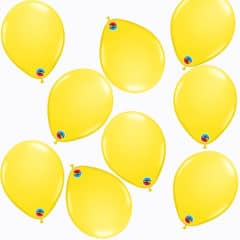 Yellow Round Mini Latex Qualatex Balloons 13cm / 5 in - Pack of 100