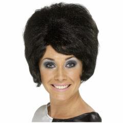 60s Beehive Black Wig