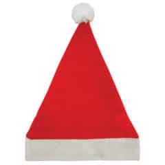 Santa Hat with Bobble Adults Christmas Fancy Dress