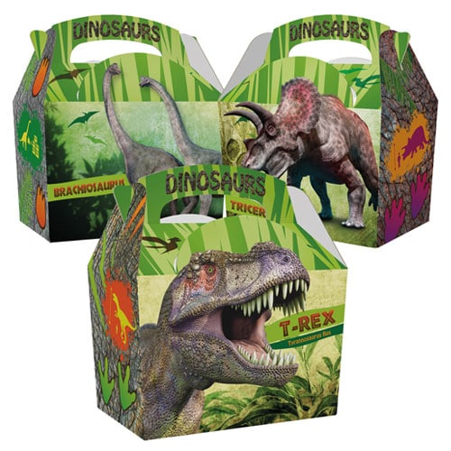 Assorted Dinosaurs Compostable Paper Party Box