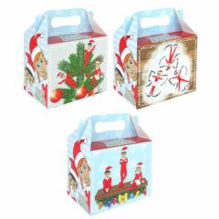 Assorted Elfin Around Christmas Treat Box 14cm