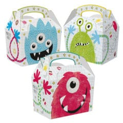 Assorted Monsters Compostable Paper Party Box