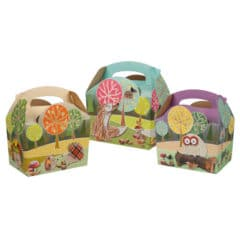Assorted Woodland Compostable Paper Party Box