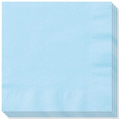 Baby Blue Napkins 40cm 2Ply - Pack of 100