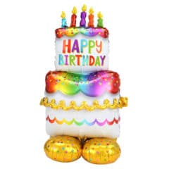 Birthday Cake Airloonz Air Fill Giant Foil Balloon 134cm / 53 in