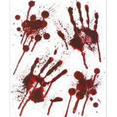 Bloody Hands Stickers Halloween Window Decorations