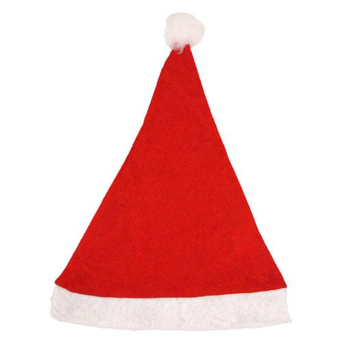 Santa Hat with Bobble Children Christmas Fancy Dress