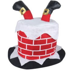 Chimney Hat with Santa Legs Adults Christmas Fancy Dress