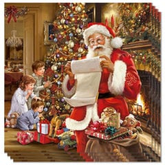 Christmas Eve Premium Luncheon Napkins 3Ply 33cm - Pack of 50
