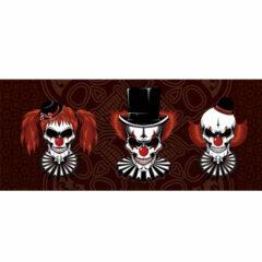 Clowns Skulls Halloween PVC Party Sign Decoration 60cm x 25cm