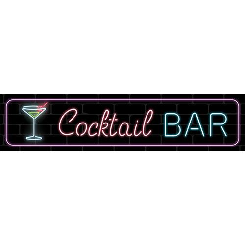Cocktail Bar Martini PVC Party Sign Decoration 110cm x 26cm