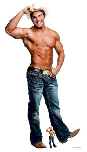 Cowboy Chippendales Lifesize Cardboard Cutout 179cm