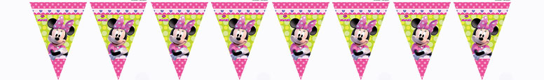 Disney Minnie Mouse Plastic Flag Bunting 230cm