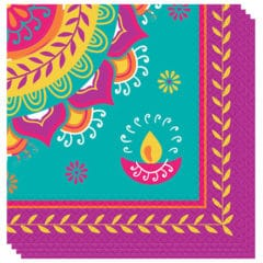 Diwali Luncheon Napkins 33cm 2Ply - Pack of 16