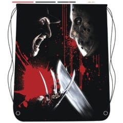 Freddy vs Jason Drawstring Halloween Bag 46cm