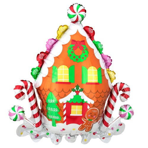 Gingerbread House Christmas Helium Foil Giant Balloon 76cm / 30 in
