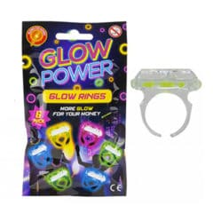 Assorted Glow Rings - Pack of 6