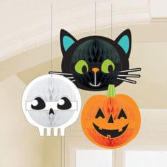 Halloween Friends Honeycomb Hanging Decorations - Pack of 3