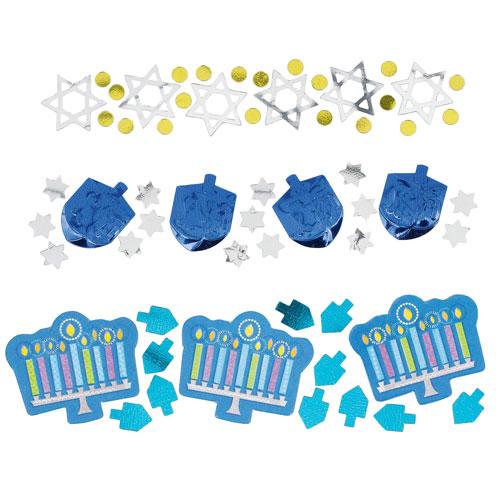 Hanukkah Celebration Value Table Confetti 34 Grams - Pack of 3