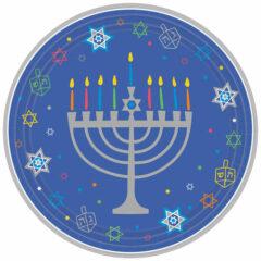 Hanukkah Round Paper Plates 27cm - Pack of 18