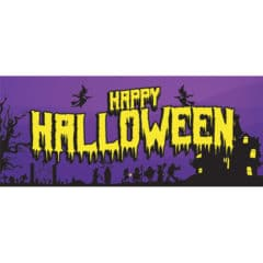 Happy Halloween Haunted House PVC Party Sign Decoration 60cm x 25cm