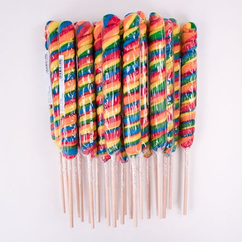 Jumbo Spiral Lolly Sweets 125 Grams - Pack of 24