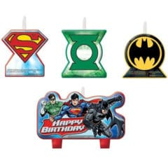 Justice League Candles - Pack of 4
