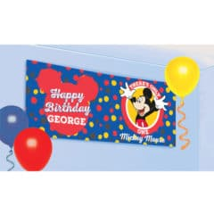 Mickey Mouse Customisable Happy Birthday Banner Kit 120cm