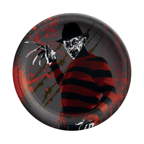 Nightmare on Elm St. Halloween Round Paper Plates 18cm - Pack of 8