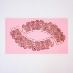 Pink Dahlia Cupcake Wraps - Pack of 12