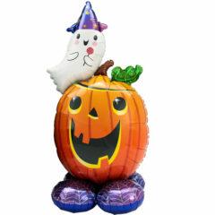 Pumpkin & Ghost Halloween Airloonz Air Fill Giant Foil Balloon 142cm / 56 in