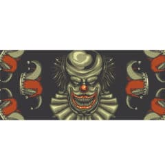 Scary Clown and Jester Hats Halloween PVC Party Sign Decoration 60cm x 25cm