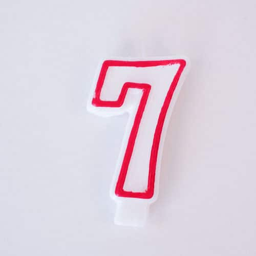 Shaped Candle - Number 7