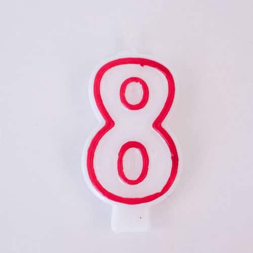 Shaped Candle - Number 8