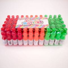 Sour Candy Sweet in Assorted Mini Plastic Bottles 8 Grams - Pack of 60