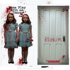 The Shining Scene Setter Add-On Wall Decorating Kit Halloween Backdrop