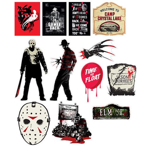 Warner Bross Horror Halloween Decorative Cutouts - Pack of 12