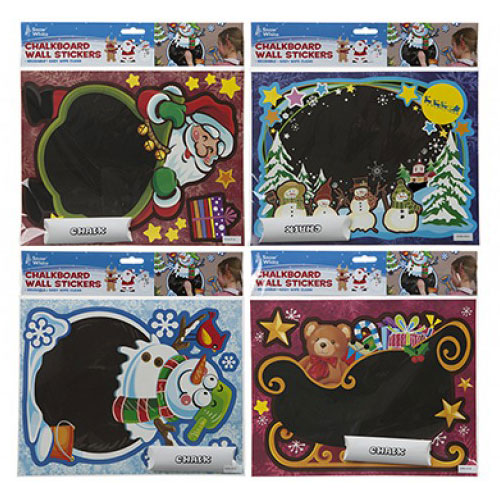 Assorted Chalkboard Christmas Stickers Decorations