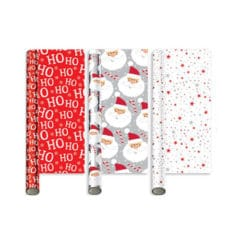 Assorted Festive Fun Christmas Gift Wrapping Paper 2m - Pack of 3