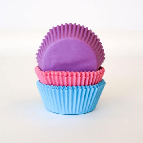Assorted Plain Paper Cupcake Cases - Pack of 90