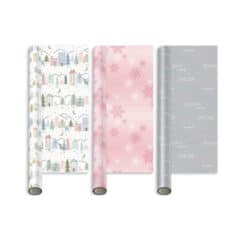 Assorted Winter Blush Christmas Gift Wrapping Paper 5m - Pack of 3
