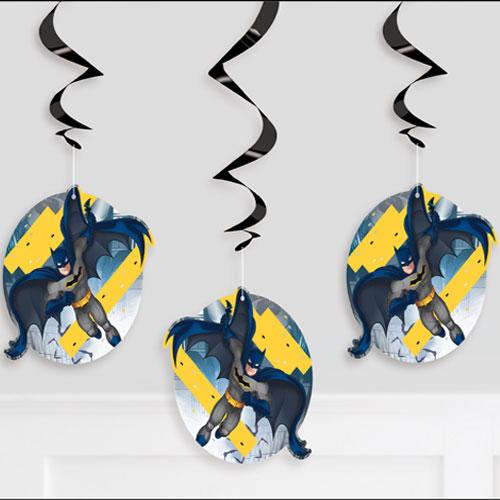 Batman Swirl Hanging Decorations - Pack of 3