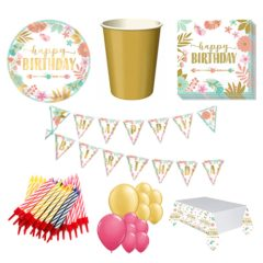 Boho Birthday Girl 16 Person Deluxe Party Pack